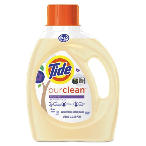 Tide® PurClean Liquid Laundry Detergent, Honey Lavender, 75 oz Bottle, 4/Carton
