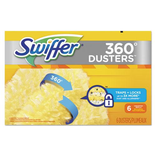 Swiffer® 360 Dusters Refill, Dust Lock Fiber, Yellow, 6/Box