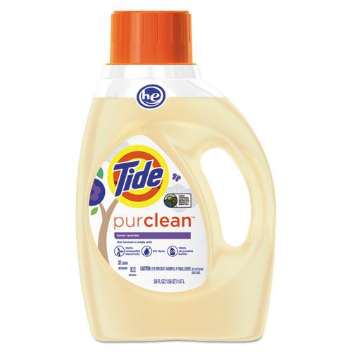 Tide® PurClean Liquid Laundry Detergent, Honey Lavender, 50 oz Bottle, 6/Carton