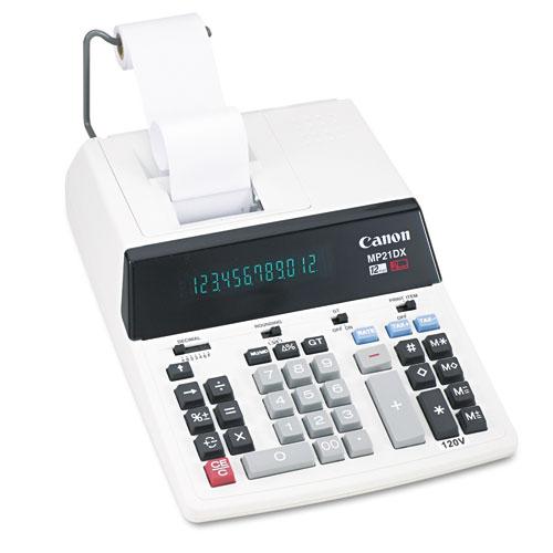Canon® MP21DX 12-Digit Ribbon Printing Calculator, Black/Red Print, 3.5 Lines/Sec