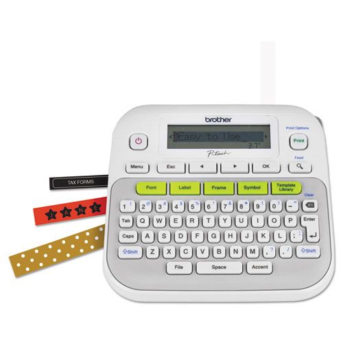 PT-D210 Easy-to-Use Label Maker, 2 Lines, 6.25 x 6 x 2.75