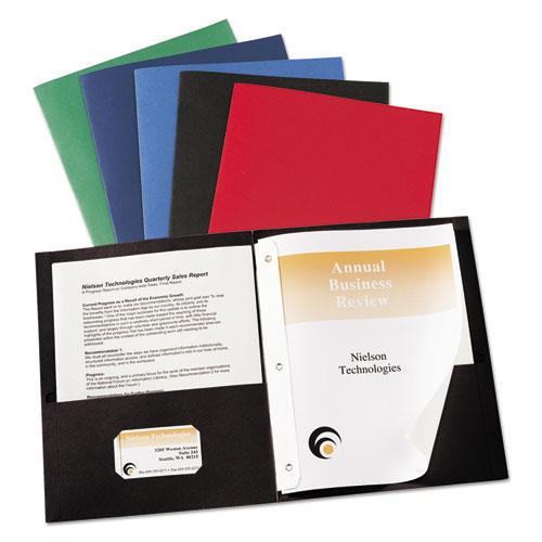 Avery® Two-Pocket Folder, Prong Fastener, Letter, 1/2