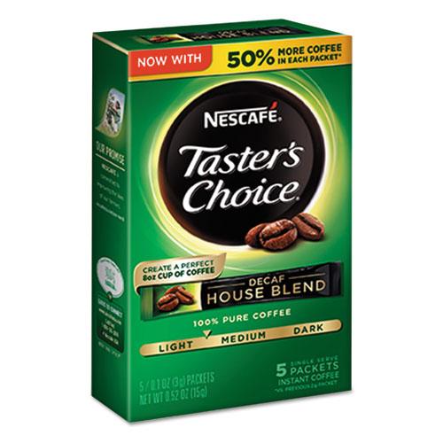Nescafé® Taster's Choice Decaf House Blend Instant Coffee, 0.1oz Stick, 5/Box, 12 Bx/Ctn