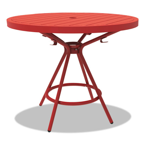 "Safco® CoGo Tables, Steel, Round, 36"" Diameter x 29 1/2"" High, Red"