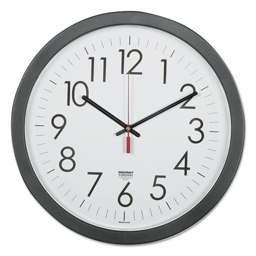 """NSN6237483 SKILCRAFT 14.5"""" Round Workstation Wall Clock"""
