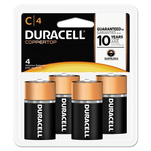 Duracell® CopperTop Alkaline Batteries, C, 4/PK