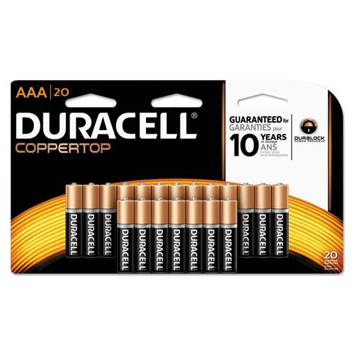 Duracell® CopperTop Alkaline Batteries, AAA, 20/PK