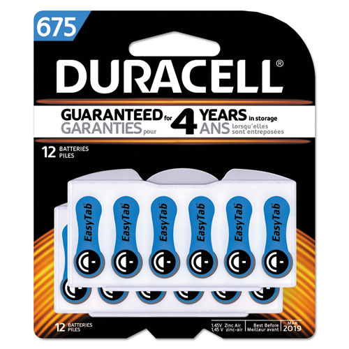 Button Cell Hearing Aid Battery #675, 12/Pk