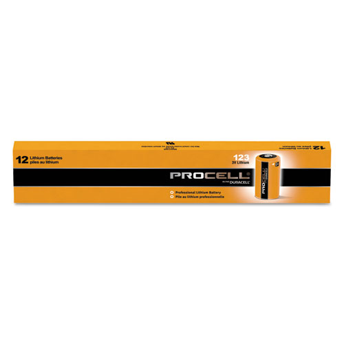 Procell Lithium Batteries, CR123, For Camera, 3V, 12/Box | by Plexsupply