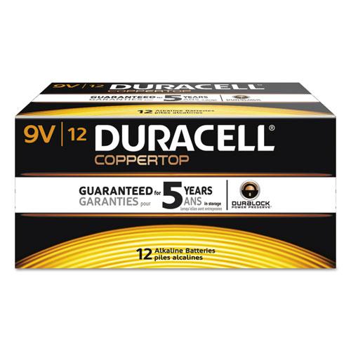 Duracell® CopperTop Alkaline Batteries, 9V, 72/CT