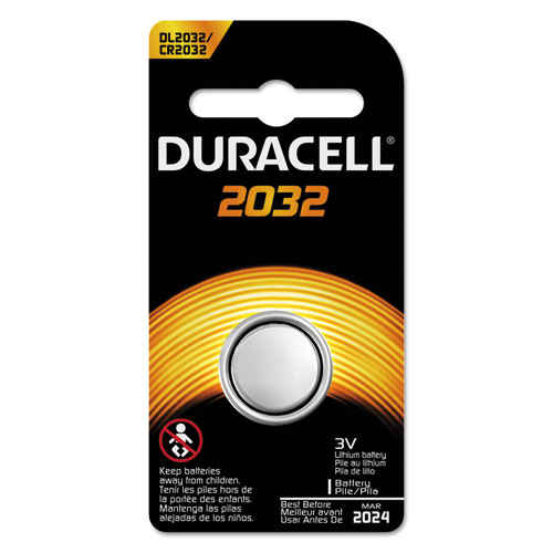 Duracell® Button Cell Lithium Electronics Battery, 2032, 3V, 6/Box