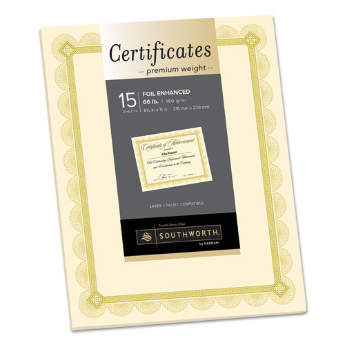 premium certificates white fleur silver foil border 66 lb 8 5 x