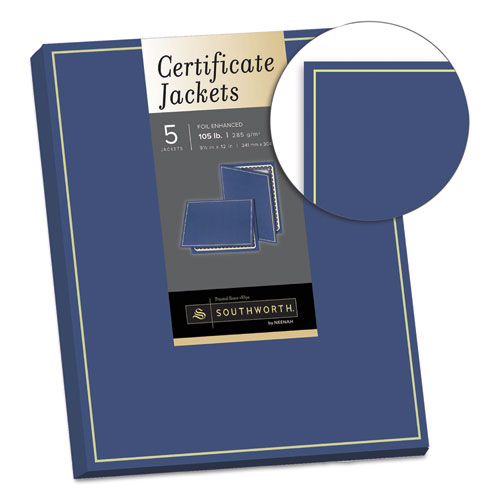 Southworth PF6 Certificate Jacket, Navy W/Gold Border, 88