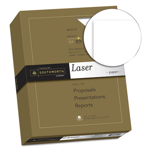 25 cotton laser paper 24lb 95 bright smooth finish 8