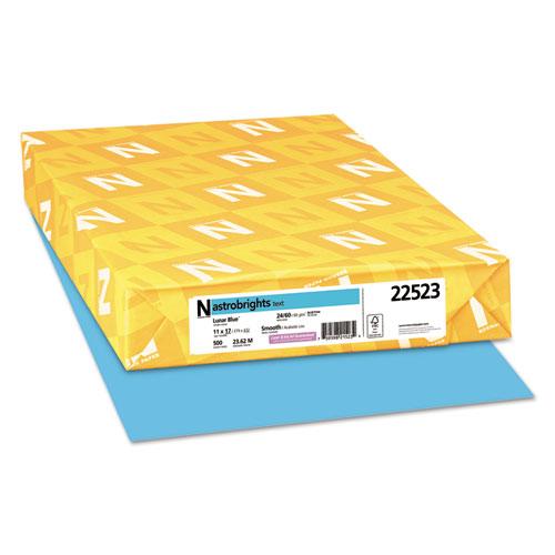 Color Paper, 24 lb, 11 x 17, Lunar Blue, 500/Ream
