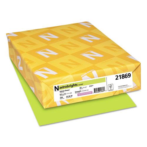Color Cardstock, 65 lb, 8.5 x 11, Vulcan Green, 250/Pack