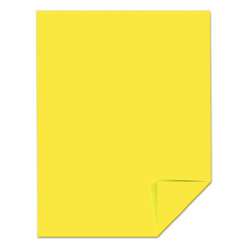 Color Cardstock 65lb 8 1 2 X 11 Lift Off Lemon 250
