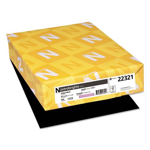 Color Paper, 24 lb, 8.5 x 11, Eclipse Black, 500/Ream
