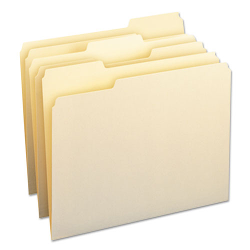 Manila File Folders, 1/3-Cut Tabs, Letter Size, 24/Pack | by Plexsupply