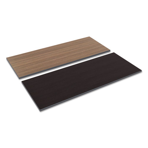 Reversible Laminate Table Top, Rectangular, 59 3/8w x 23 5/8d, Espresso/Walnut