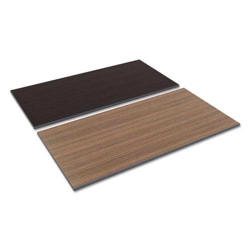 Reversible Laminate Table Top, Rectangular, 59 3/8w x 29 1/2d, Espresso/Walnut