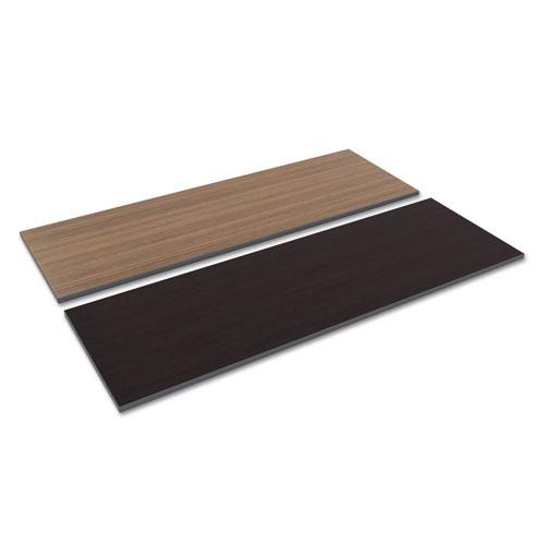 Reversible Laminate Table Top, Rectangular, 71 1/2w x 23 5/8d, Espresso/Walnut