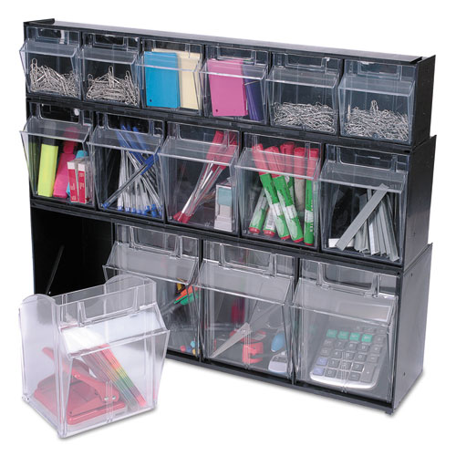 Def20504op Deflecto 174 Tilt Bin Plastic Storage System W 5
