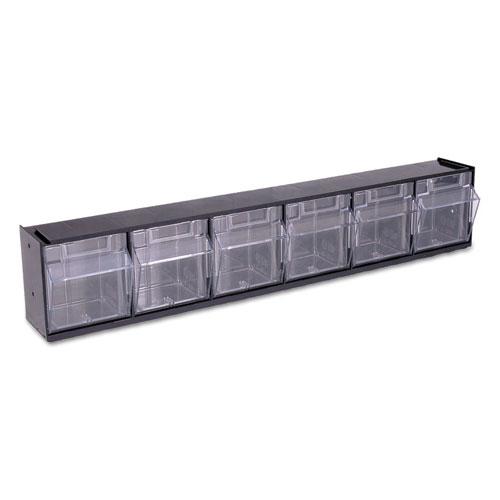 Def20604op Deflecto 174 Tilt Bin Plastic Storage System W 6
