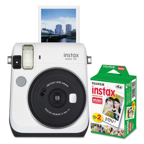 instax mini 70 bundle auto focus white. Black Bedroom Furniture Sets. Home Design Ideas