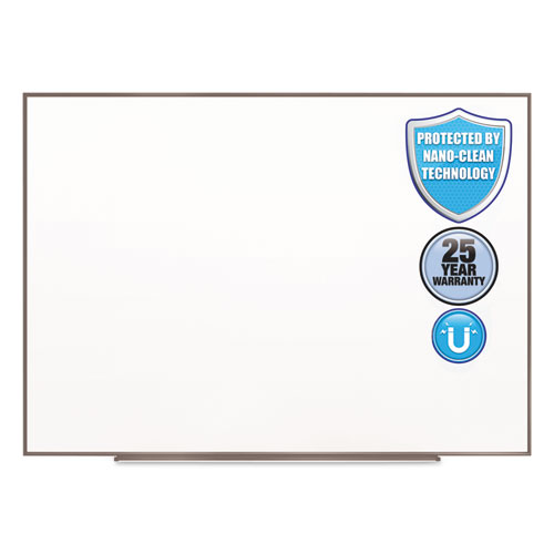 Quartet® Fusion Nano-Clean Magnetic Whiteboard, 96 x 48, Silver Frame