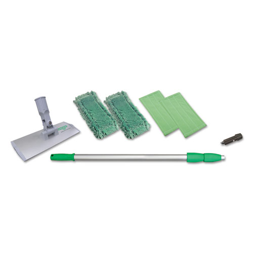 Indoor Window Cleaning Kit, Aluminum, 72 Extension Pole, 8 Pad Holder