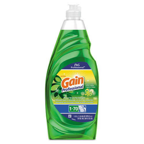 Gain® Professional Manual Pot and Pan Dish Detergent, Gain Original, 38 oz Bottle