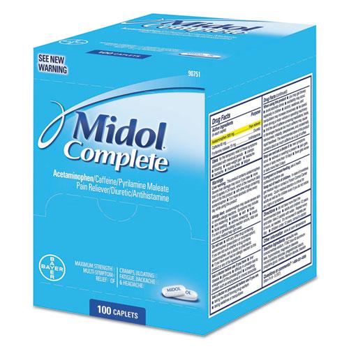 Midol® Complete Menstrual Caplets, Two-Pack, 50 Packs/Box
