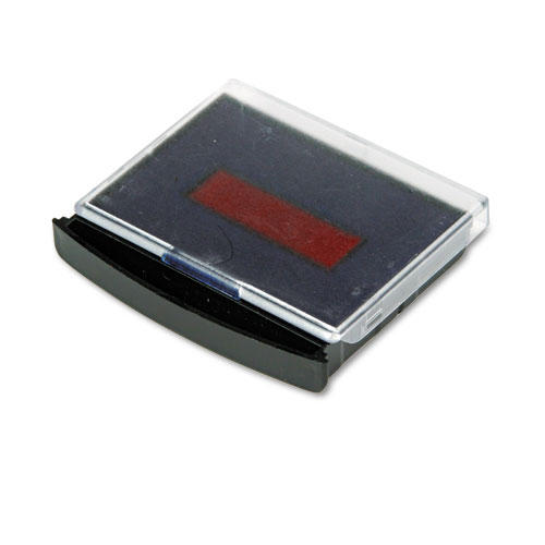 Replacement Ink Pad for 2000 PLUS Two-Color Word Daters, Blue/Red | by Plexsupply