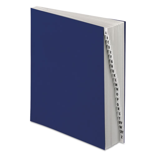 Expanding Desk File, A-Z, Letter Size, Acrylic-Coated Pressboard, Dark Blue | by Plexsupply