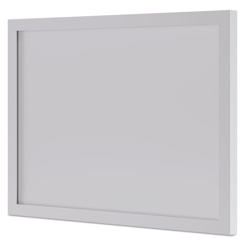 BL Series Frosted Glass Modesty Panel, 39.5w x 0.13d x 27.25h, Silver/Frosted