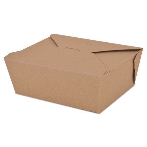 SCT® ChampPak Retro Carryout Boxes, Kraft, 6 x 4 3/4 x 2 1/2, Brown, 50/Pack,6Pk/Ctn
