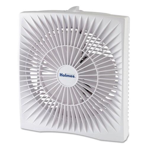 10 Personal Size Box Fan, Plastic, White