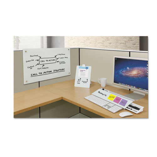 Quartet® Infinity Magnetic Glass Dry Erase Cubicle Board, 18