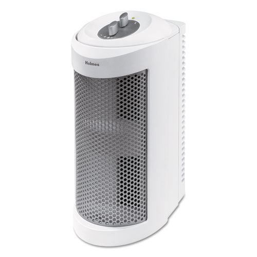 Allergen Remover Air Purifier Mini-Tower, 204 sq ft Room Capacity, White