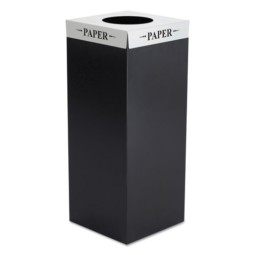 Safco® Square-Fecta Lid, Paper, Silver