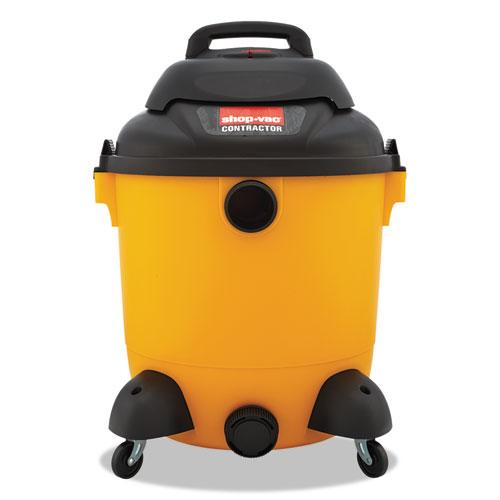 Shop-Vac® Economical Wet/Dry Vacuum, 12 gal Capacity, 8.9 amp, 23 lbs, Black/Yellow