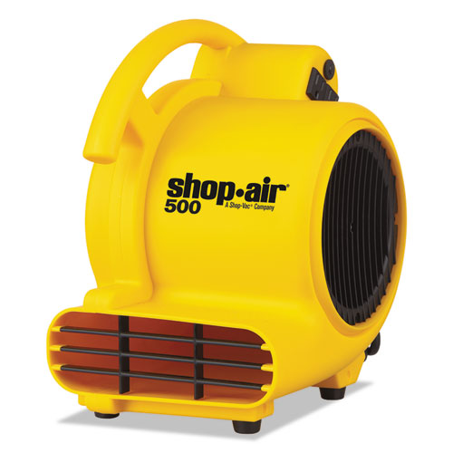Mini Air Mover, Yellow, 8in., Plastic, 500 cfm 1032000