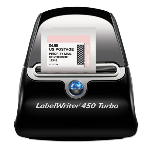 LabelWriter 450 Turbo Label Printer, 71 Labels/min Print Speed, 5 x 7.4 x 5.5