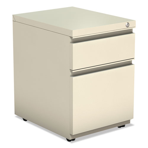 Two-Drawer Metal Pedestal Box File with Full-Length Pull, 14.96w x 19.29d x 21.65h, Putty