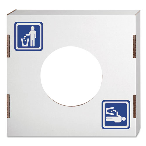 Waste and Recycling Bin Lid, General Waste, White/Blue Print, 10/Carton