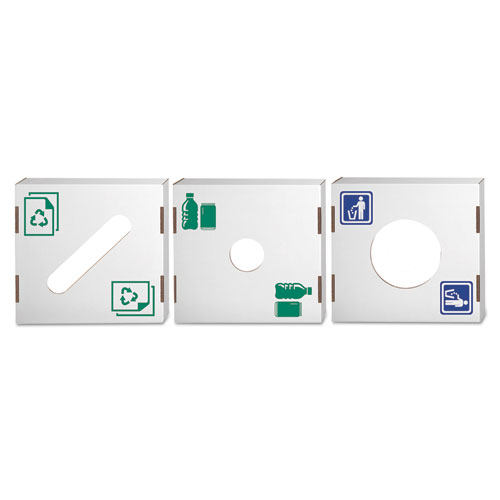 Bankers Box® Waste and Recycling Bin Lid, Paper, White/Green Print, 10/Carton