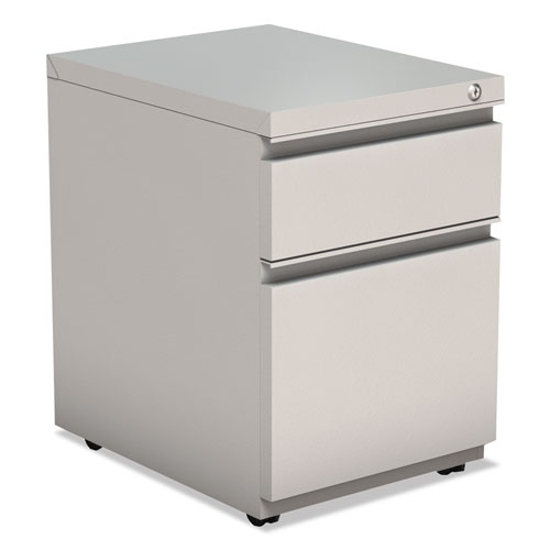 2-Drawer Metal Pedestal Box File with Full Length Pull, 14.96w x 19.29d x 21.65h, Light Gray