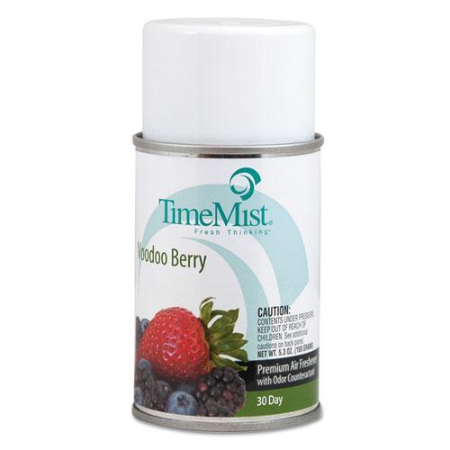 TimeMist® Premium Metered Air Freshener Refill, Voodoo Berry, 5.3 oz Aerosol, 12/Carton