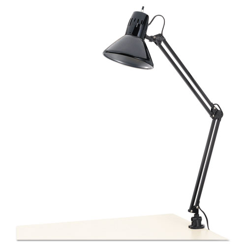 Architect Lamp, Adjustable, Clamp-on, 6.75w x 20d x 28h, Black